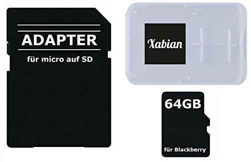 64GB MicroSD SDXC Speicherkarte für Blackberry Smartphones mit SD Adapter und Memorycard Box