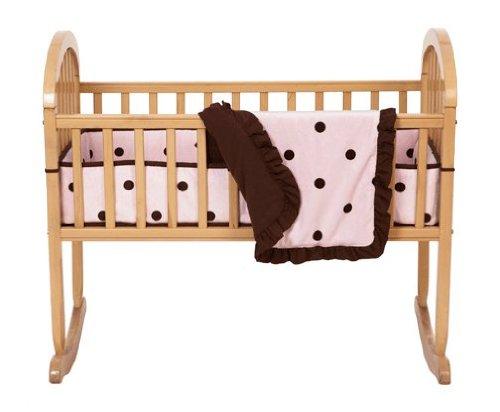 Imagen de Sociedad Americana del bebé de 3 piezas Set Cuna con Dot Espresso Grande, Rosado