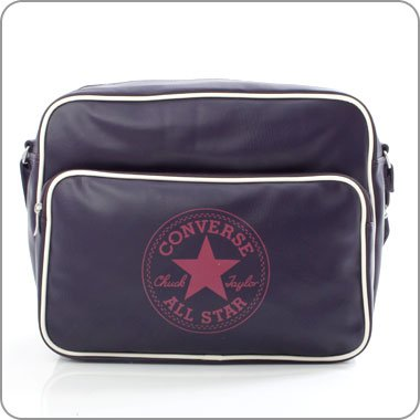 Converse Vintage Patch Shoulder Flap Bag Tasche Chocolate Brown 48