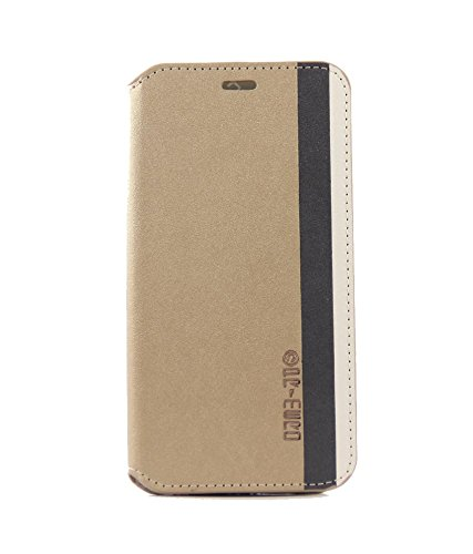 New Arrival Available On Stylabs Flip Case Cover For HTC DESIRE 816 / 816G - In Elegant Gold with Thik Dark Black And Cream Stripes