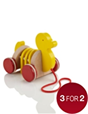 My First Wooden Pull Along Duck Toy