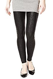 Ankle Length Faux Snakeskin Print Leggings