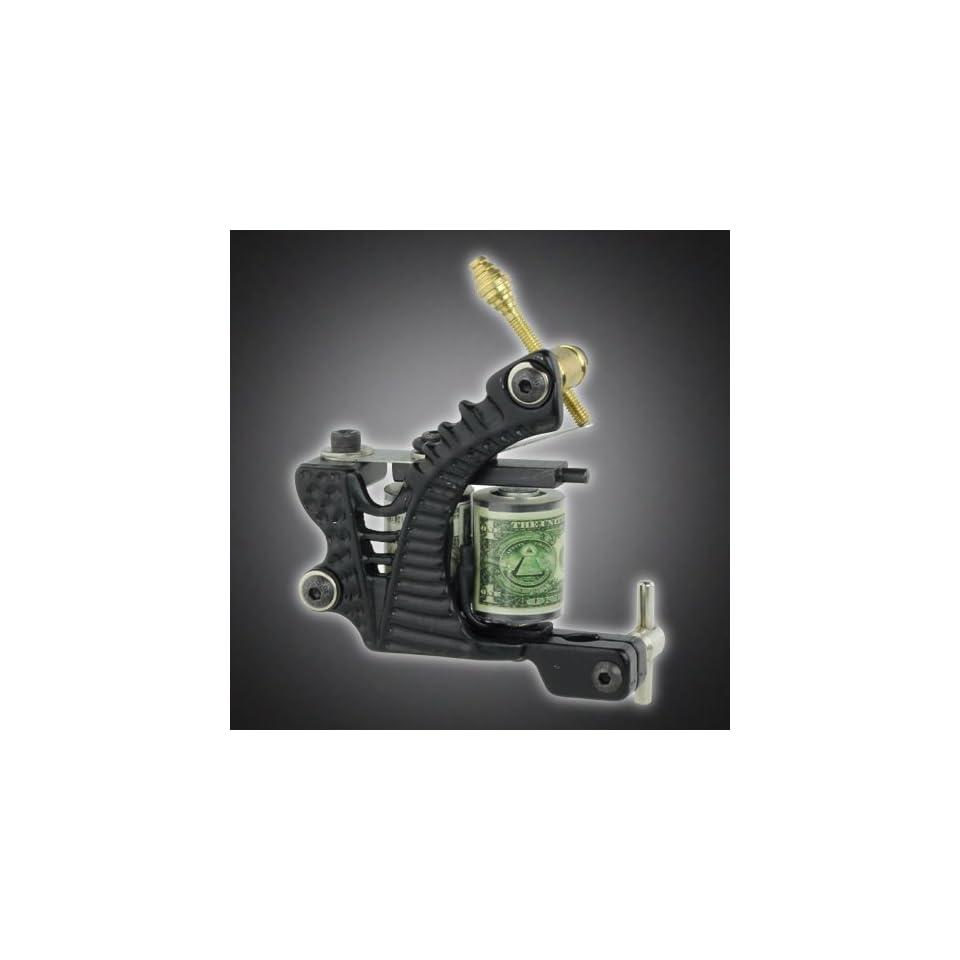 New Pro Tattoo Machine Gun Liner Shader Dual 10 wrap Coil Supply Set, Black Color