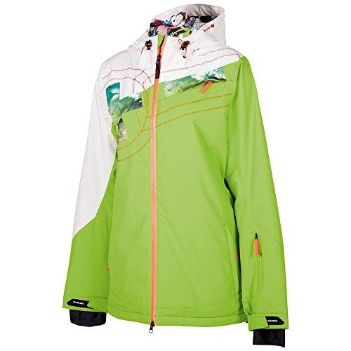 Chiemsee Damen Funktionsjacke Happy Coole Skijacke Wasserdichte Reißverschlüss, Jasmin Green, S, 1070702