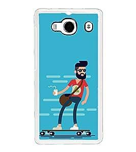 Cool Dude 2D Hard Polycarbonate Designer Back Case Cover for Xiaomi Redmi 2S :: Xiaomi Redmi 2 Prime :: Xiaomi Redmi 2