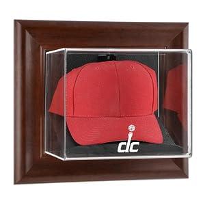 NBA Wall Mounted Cap Display Case Frame Finish: Brown, NBA Team: Washington Wizards by Mounted Memories