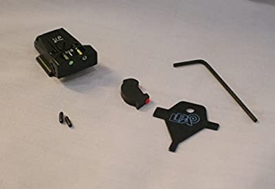 LPA Sight Set, Fully Adjustable Fiber Optic, Ruger P90-P95, P97 –TTF91RU FUSION from LPA