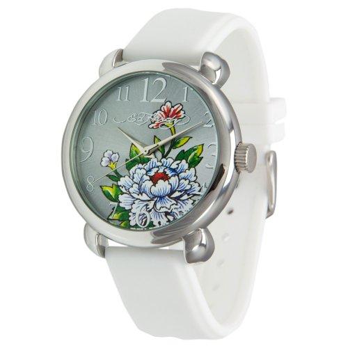 Ed Hardy Women's FO-WH Fountain White Quartz Analog Watch