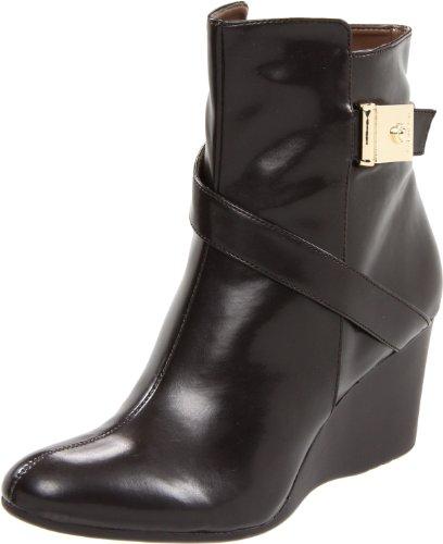 Calvin Klein Women'S Gianna Smooth Ankle Boot,Dark Brown,7.5 M Us
