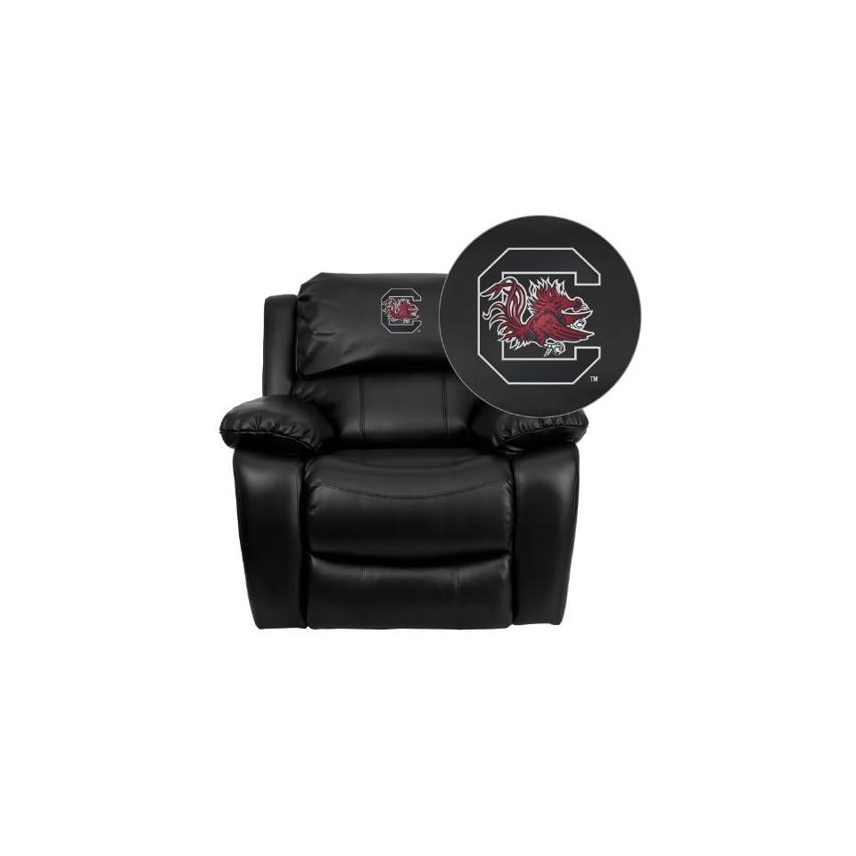Flash Furniture South Carolina Gamecocks Embroidered Black Leather Rocker Recliner