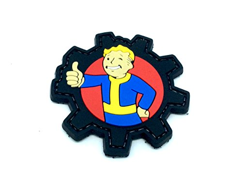 Vault Boy Fallout PVC Airsoft Velcro Fan Patch Toppa