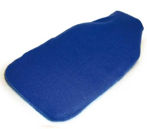 Hot Water Bottle 2L w/Fleece Cover (Plain Blue)