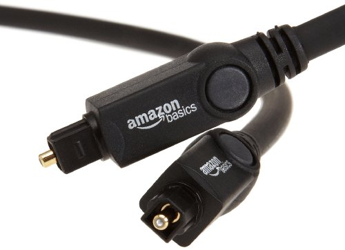 AmazonBasics Digital Optical Audio Toslink Cable, 6 Feet