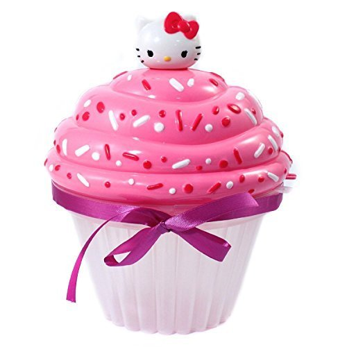 Hello-Kitty-Bead-Party-Jewelry-Making-Play-Craft-Kit-Set-Cup-Cake-Shaped-Storage-Case-800-Beads-Elastic-Cording-Hello-Kitty-Charms