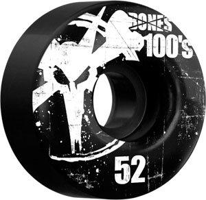 Buy Bones 100'S Og 52mm Black Skateboard Wheels (Set Of 4) by Bones Wheels & Bearings