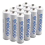 SANYO NEWEST VERSION RECHARGE 1800 TIMES eneloop AAA Ni-MH Pre-Charged Rechargeable Batteries X 12 batteries