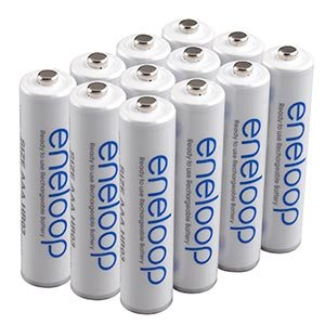 SANYO NEWEST VERSION RECHARGE 1500 TIMES eneloop AAA Ni-MH Pre-Charged Rechargeable Batteries X 12 batteries