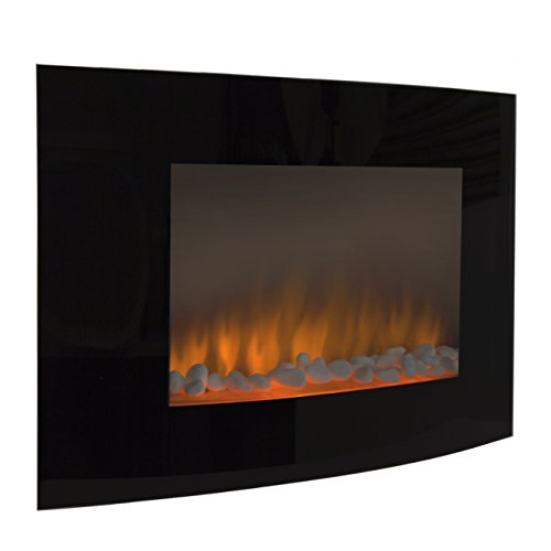 Best Choice Products® Electric Wall Mount Fireplace 1500W Heat Adjustable Heater Glass XL Large