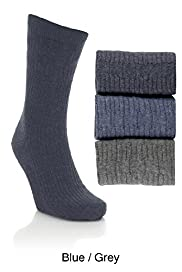 3 Pairs of Non Elastic Cotton Rich Socks with Silver Technology