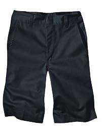 Dickies Big Boys\' Flat Front School Uniform Short, Black, 16 Regular