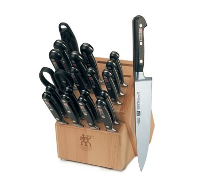 Zwilling J.A. Henckels Pro S Stainless-Steel 21-Piece Knife Set with Block