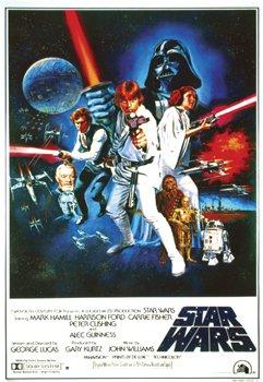 Star Wars: A New Hope Vintage 24x36 Dry Mount Poster Gold Wood Framed 1