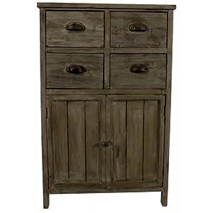 meuble bas rangement bois 4 tiroirs cuisine maison. Black Bedroom Furniture Sets. Home Design Ideas