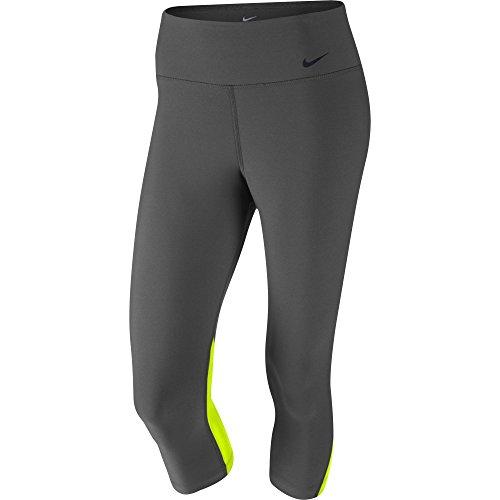 Women's Nike Legend 2.0 Poly Tight Fit Training Capri Ash/Volt/Black Size X-Small