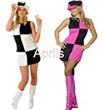 Ladies Swinging 60s Sixties Mod Fancy Dress Costume