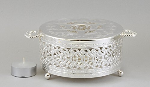 Silver-plated Filigree Design Teapot Warmer (Teapot Warmer Candle compare prices)