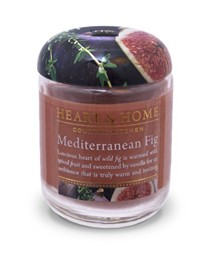 Heart & Home Small Glass Mediterranean Fig Candle