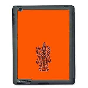 Skin4gadgets Lord Vishnu- Line Sketch on English Pastel Color-Orange Tablet Designer SMART CASE for IPAD 4