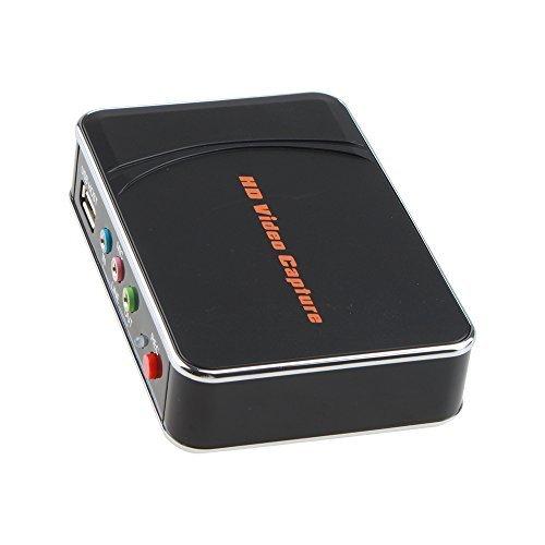 AGPtek [UE spina] Game capture hd Gioco cattura video HD 1080P HDMI registratore / YPBPR per Xbox 360 & One / PS3 PS4 - La funzione invio tramite HDMI garantisce liscio esperienza di gioco HD anche durante la registrazione