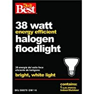 GE Private Label9082938W Halogen Floodlight Bulb-38W PAR30 LNG FLOOD BULB