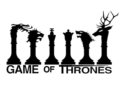 Game of thrones popular cult series chess - easy to apply vinyl sticker fun and cool for laptops macbooks home improvement and decorations makes a great birthday present