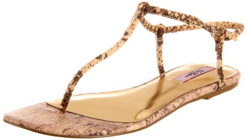 Ted Baker Women's Ajania T-Strap Sandal,Nude Exotic,9 M US