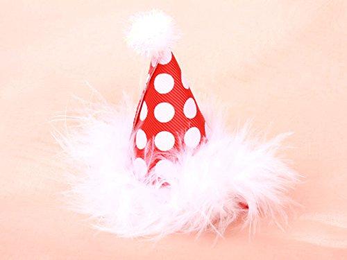 子ども 誕生日 サンタ 帽子 ヘアピン レッド 可愛いヘアアクセ