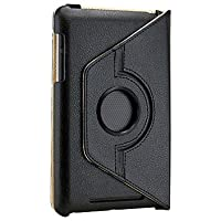 Gearonic 360 Degree Rotating Swivel Stand PU Leather Case For Google Nexus 7 Asus Tablet Black (5099BPUIB)
