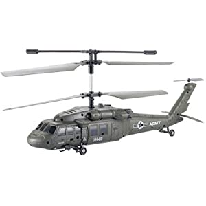 Remote Control Army Black Hawk 3 Channel Gyro Helicopter - UDI U1