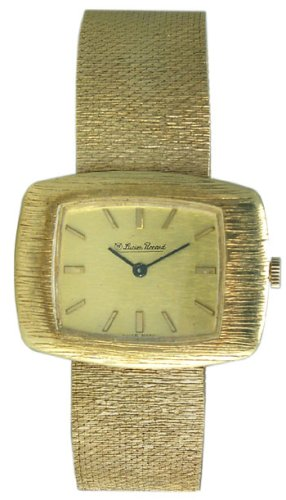 Lucien Piccard 14k Solid Gold Vintage Mens Mesh Watch - Late 1960's
