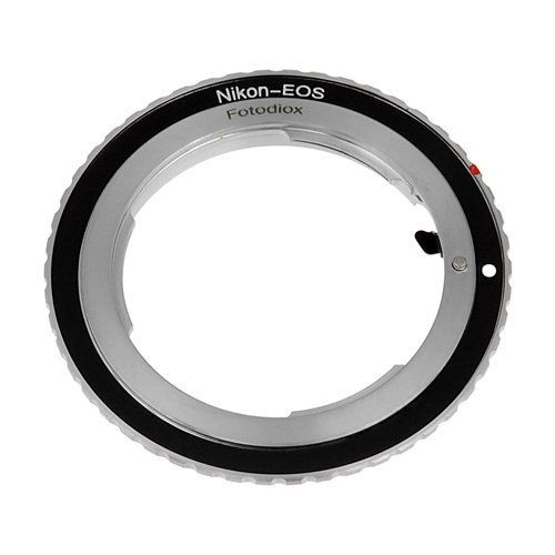 Fotodiox Lens Mount Adapter, Nikon Lens to Canon EOS Camera Body, for Canon EOS 1D, 1DS, Mark II, III, IV, 1DX, 1DC, 5D, 5D Mark II, II 7D, 10D, 20D, 30D, 40D, 50D, 60D, 70D Digital Rebel T2i, T3, T3i, T4i. T5i, C300, C500