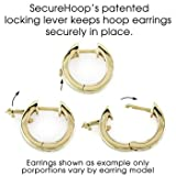 1 Carat Channel Set Diamond Earrings in 14k Yellow Gold (with Safety Lock)