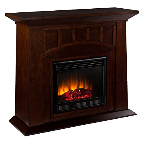 Southern Enterprises Myron Electric Fireplace - Espresso