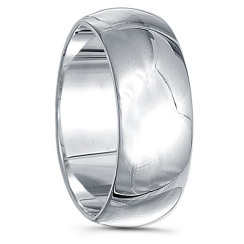 925 Sterling Silver Plain Wedding Band - 9mm