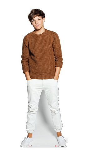 OFFICIAL ONE DIRECTION STANDEE LIFESIZE LOUIS TOMLINSON STANDUP CUTOUT CARDBOARD 1D (One Direction Stand Up Cardboard compare prices)