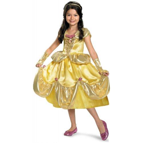 Belle Shimmer Deluxe Costume - Medium (7-8)