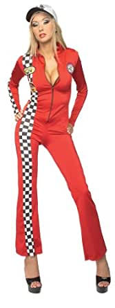Secret Wishes  Costume Sultry Racer Costume, Red, X-Small
