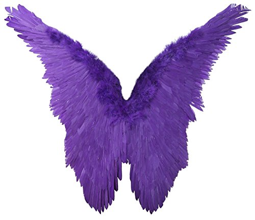 FashionWings (TM) Butterfly Style XL Wingspan Purple Feather Angel Wings