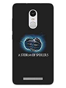 Justgirlythings Game Of Thrones - Storm Of Spoilers Hard Back Case Cover For Xiaomi Redmi Note 3