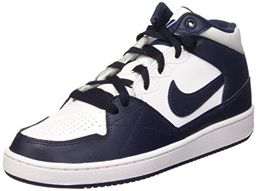 Nike Priority Mid Gs Scarpe da basketball, Bambini e ragazzi, Multicolore (White/Obsidian-Obsidian), 36, Blanco / Negro (White / Obsidian-Obsidian), 38 1/2
